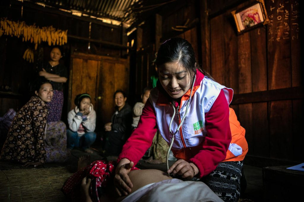 Health Checkup for a pregnant woman in Myanmar