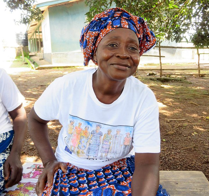Amie is a maternal health promoter, supporting women in her community in Sierra Leone.