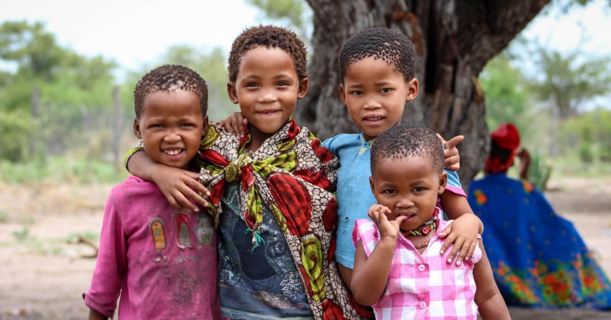 San children in Namibia