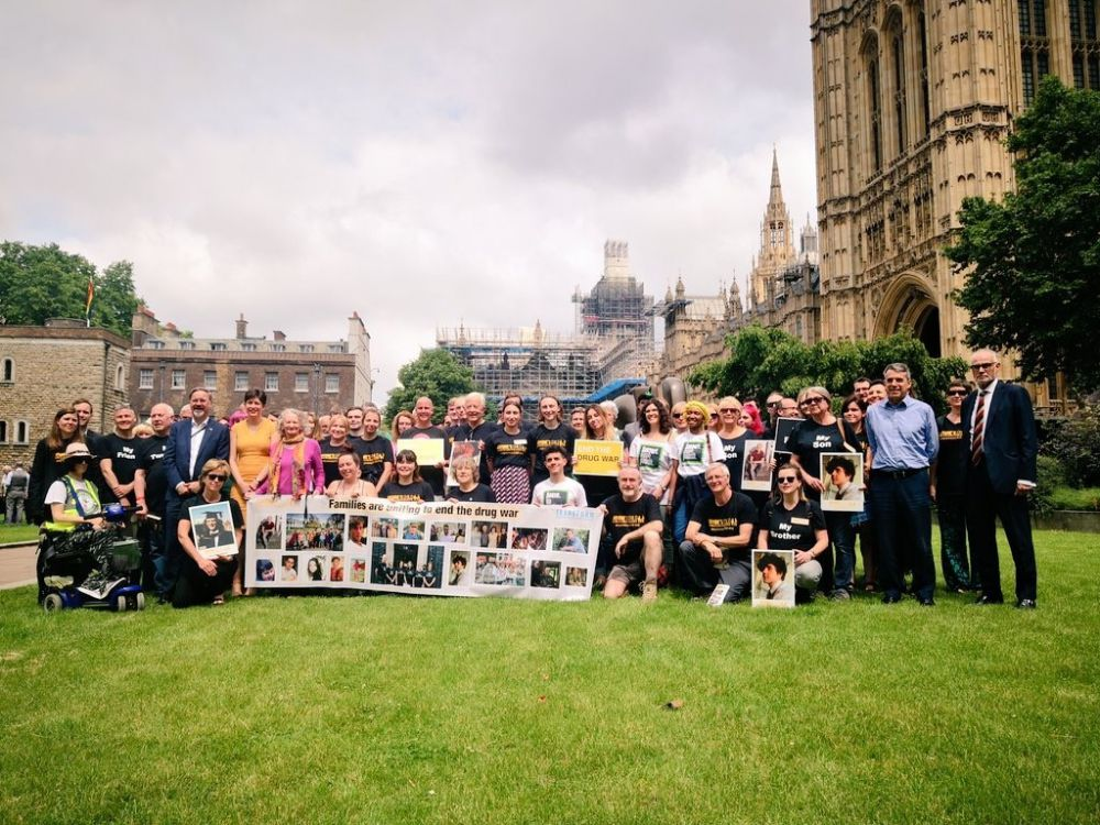 Lobbyists gather outside Parliament for the Anyone's Child Mass Lobby